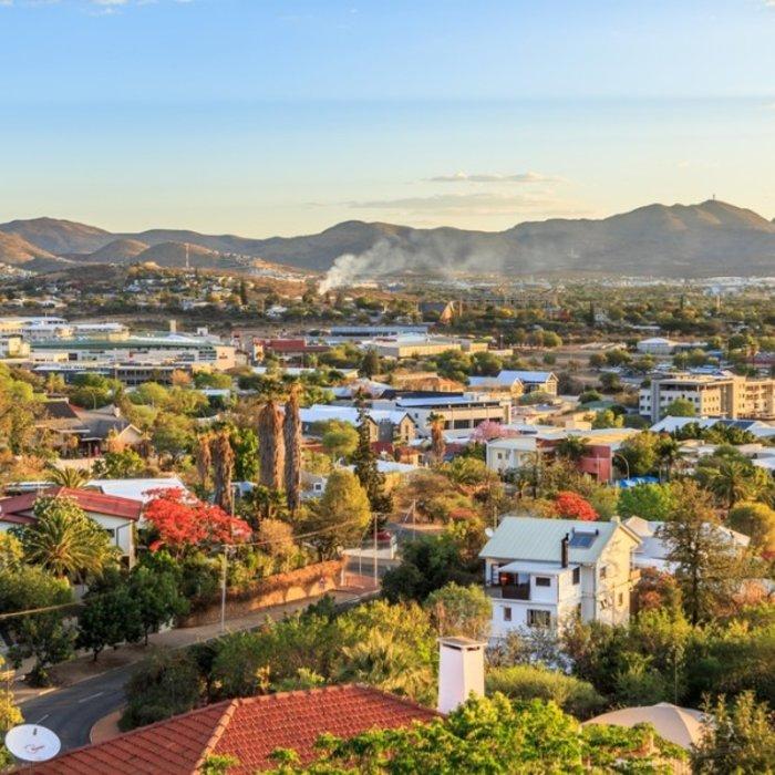 NAM.Windhoek.Blick auf die Stadt
