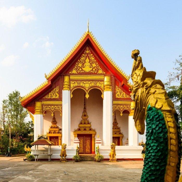 LAO. Vientiane. Tempel