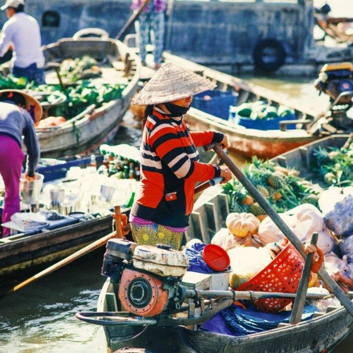 VNM. Can Tho. Schwimmender Markt