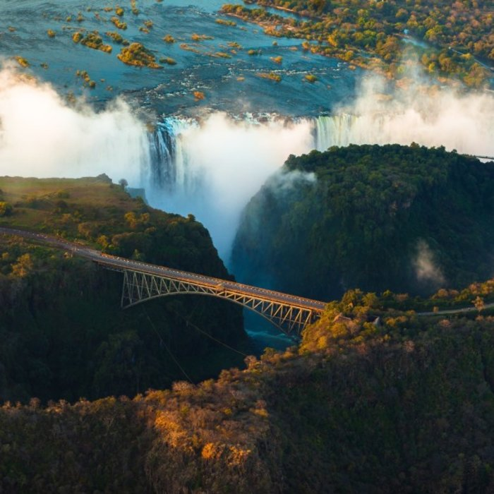 BWA.Victoria Falls.Bridge Sunset