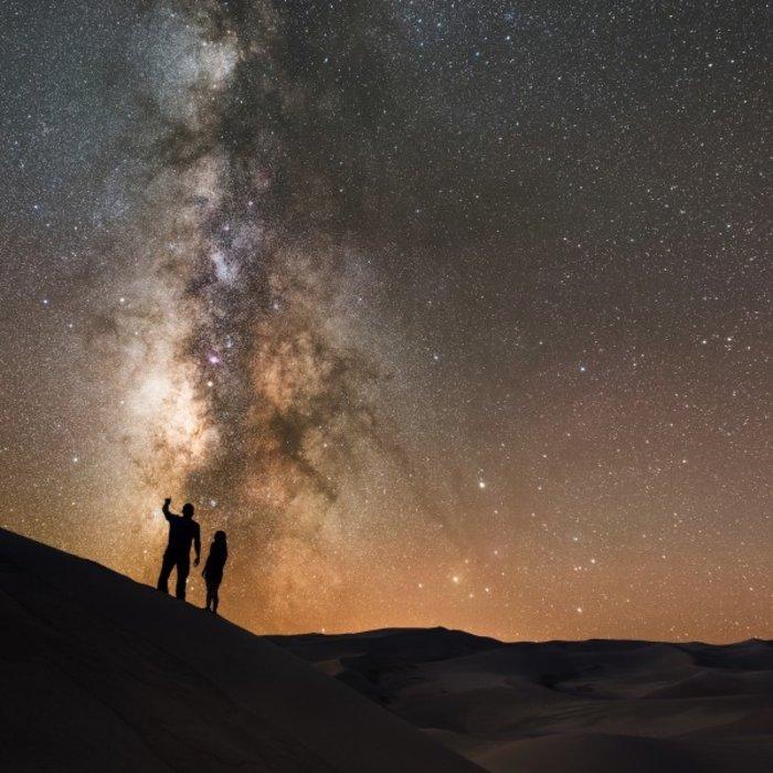 OMN.Wahiba Sands.Sterne in Wüste
