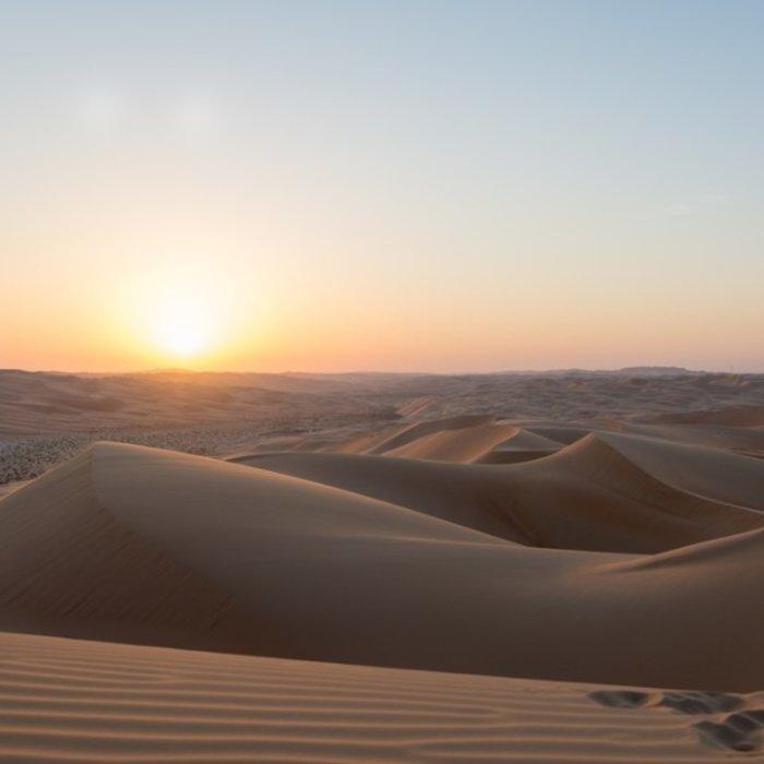 OMN.Rub al-Khali.Sonnenuntergang