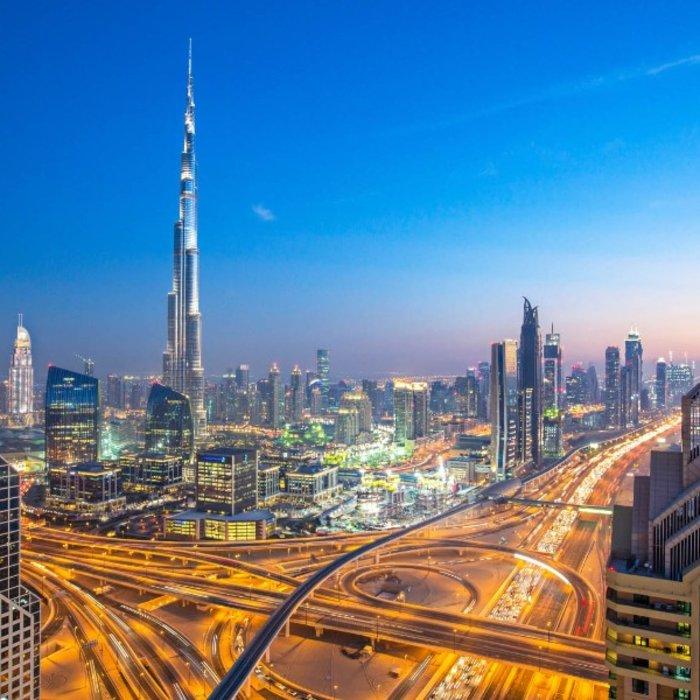 VAE.Dubai.Skyline bei Nacht