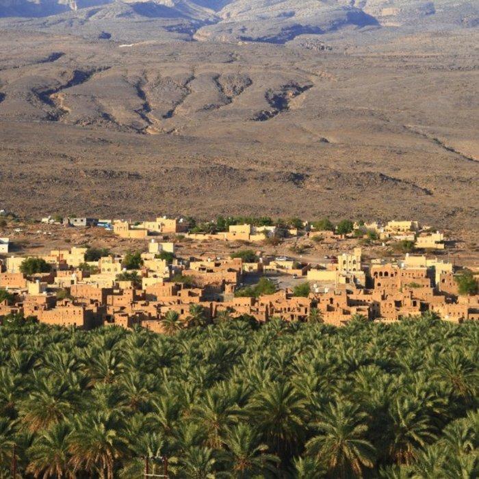 OMN.Al Hamra.Landschaft mit Ruinen