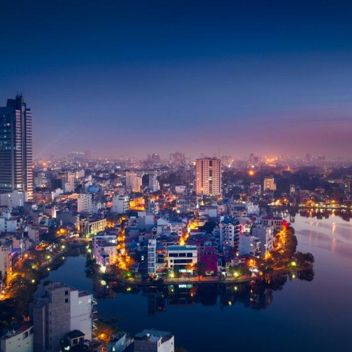 VNM.Hanoi.Skyline bei Nacht