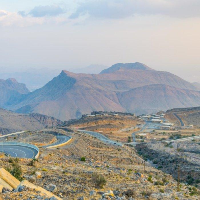 OMN.Jebel Akhdar.Straße im Gebirge