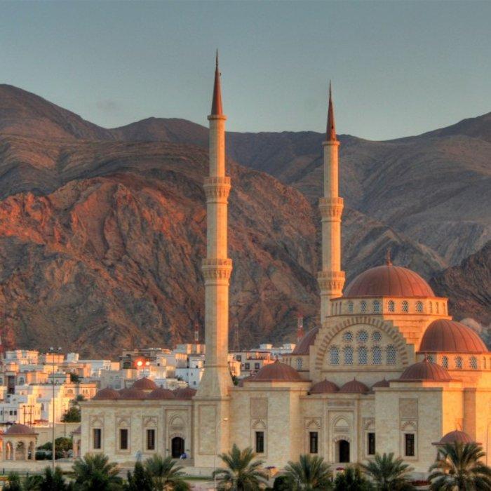 OMN.Muscat.Moschee Abend