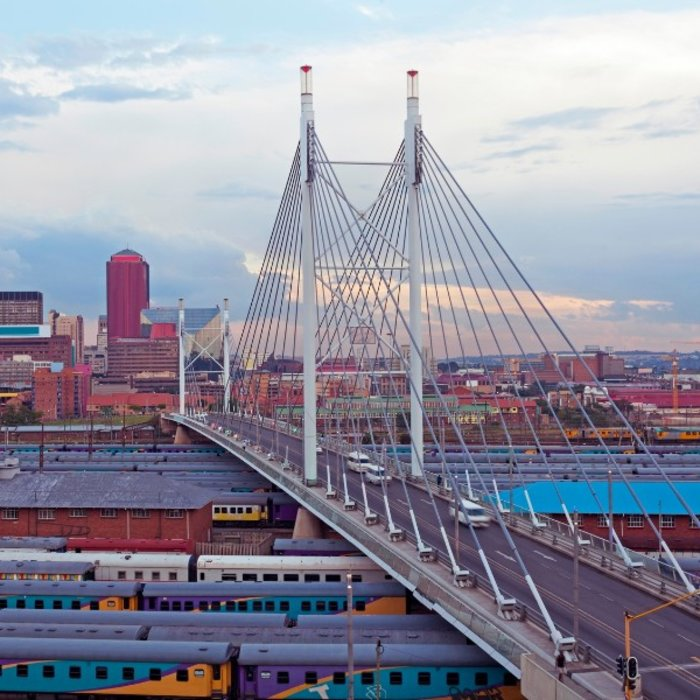 ZAF.Johannesburg.Newtown brücke züge