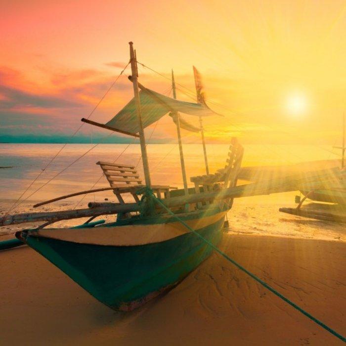MUS.Boot Sonnenuntergang