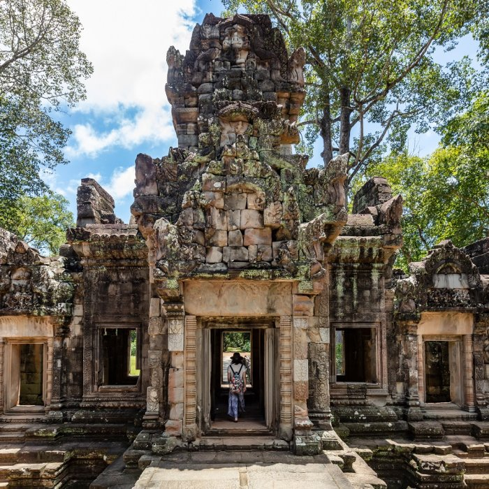 Blick auf ein Gebäude der Tempelanlage