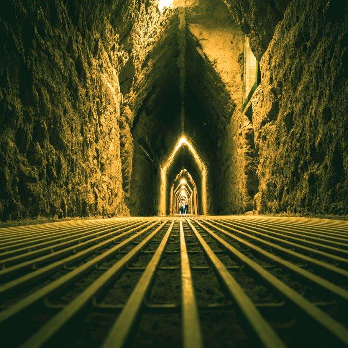 Der Tunnel unterhalb der Pyramide von Cholulu