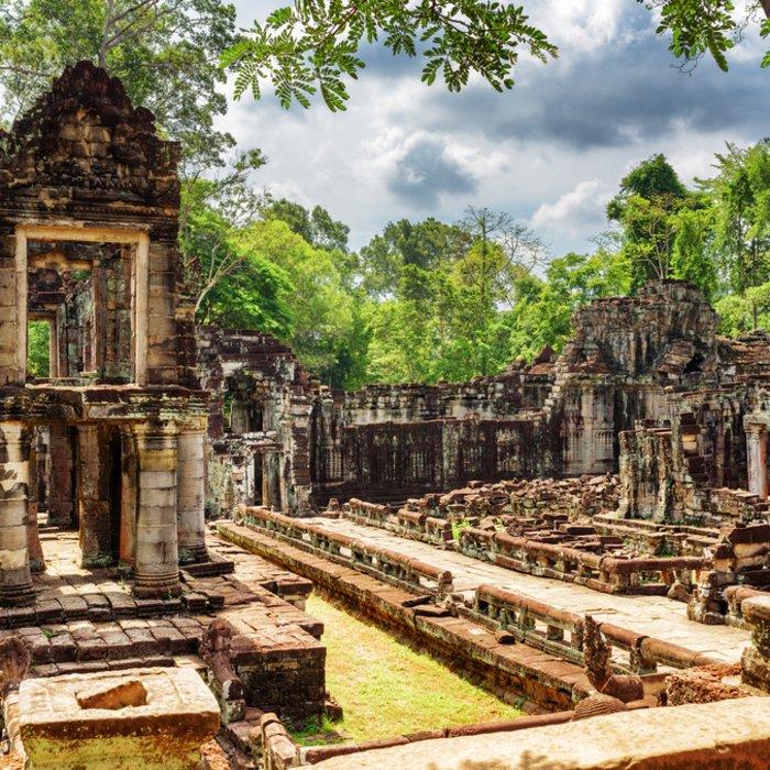 historische Ruinen des Tempels Preah Khan in Siem Reap