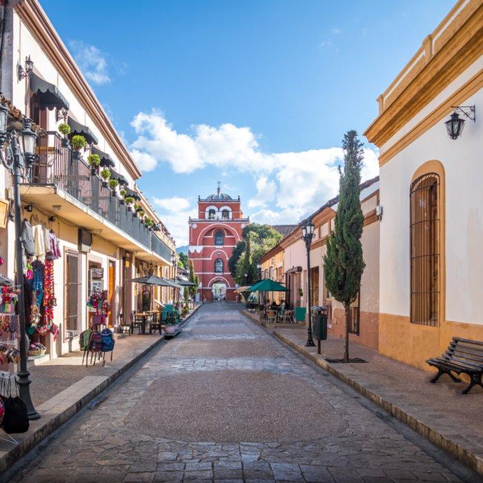 Die bunte Fußgängerzone von San Cristobal de las Casas