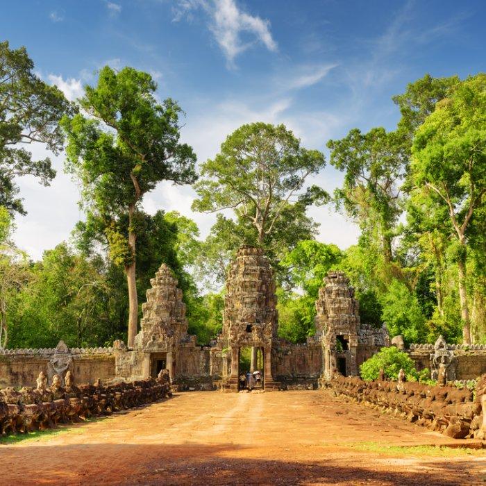 Der Eingang zum Tempel Preah Khan in Siem Reap