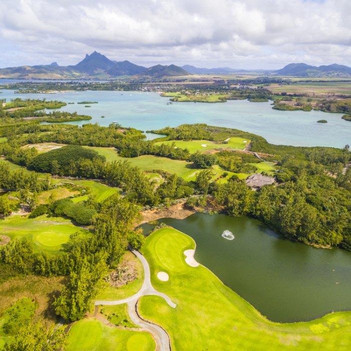 Der Golfplatz der Île aux Cerfs