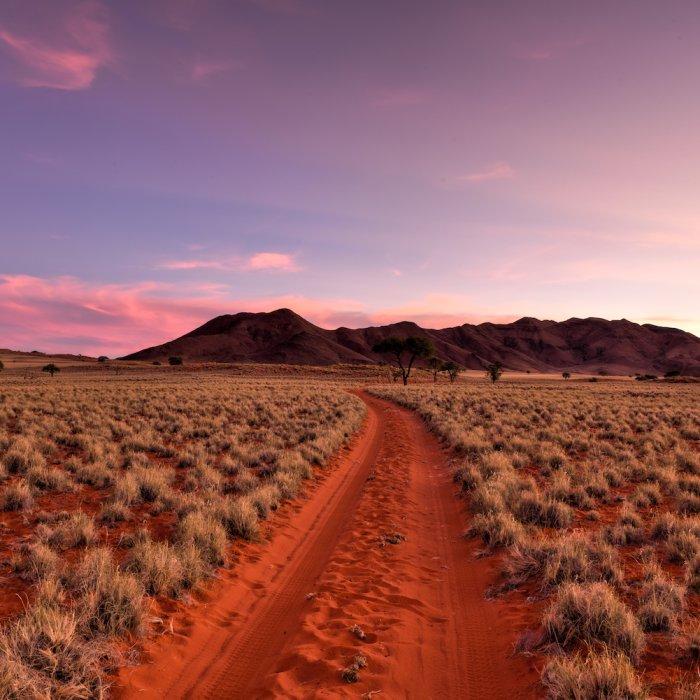 Sonnenuntergang im Outback in Australien