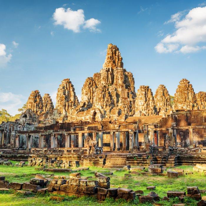 KH.Angkor_Thom Kambodscha Siem Reap Angkor Thom Bayon Tempel