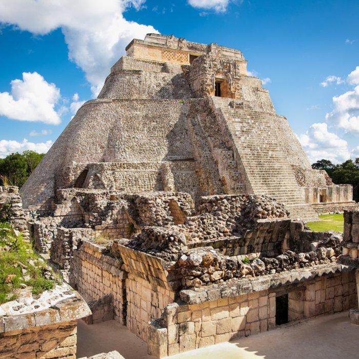 Blick auf die Maya Ruine Uxmal