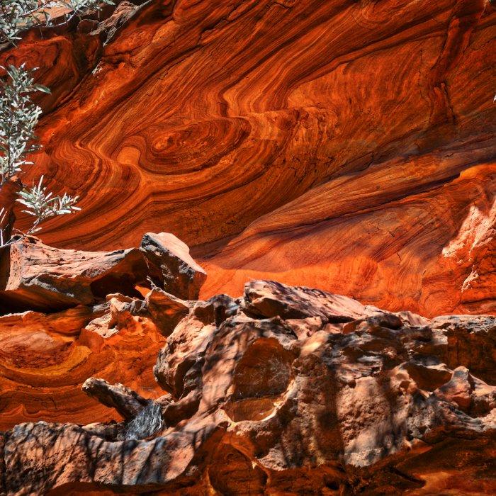 Roter Felsen im Kings Canyon in Australien.
