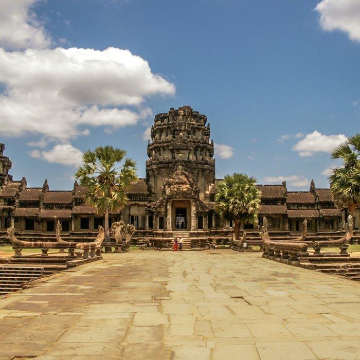 Der Tempel von Angkor Wat in der Nähe von Siem Reap