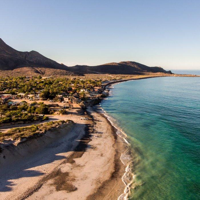 MX.Cabo_Pulmo_Nationalpark Die Küstenlinie entlang des Cabo Pulmo Nationalparks