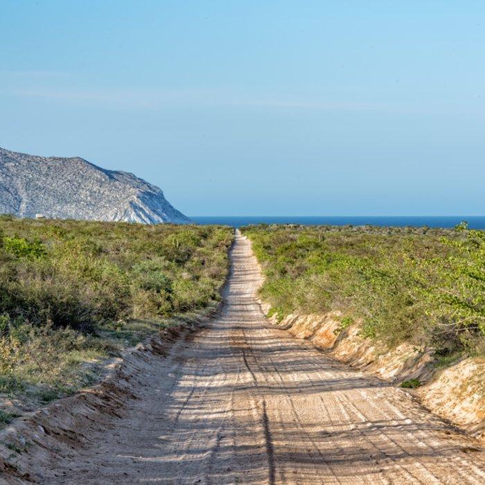 Die holprigen Straßen durch den Nationalpark bis hin zum Meer