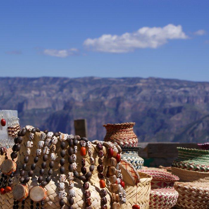Die Souvenirs der Einwohner des Copper Canyon