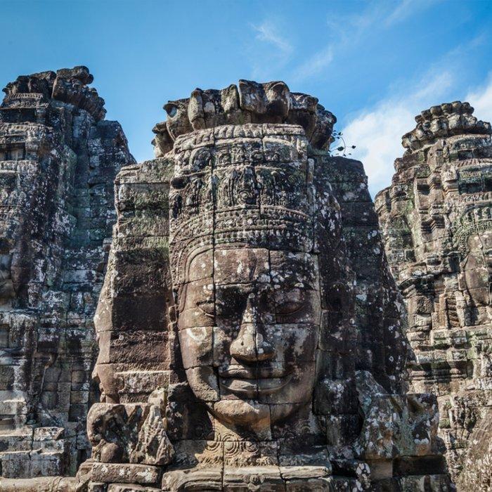 Kambodscha Siem Reap Angkor Thom Bayon Tempel Gesichtertürme