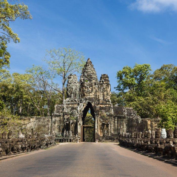 Kambodscha Siem Reap Angkor Thom Bayon Südeingang Südtor