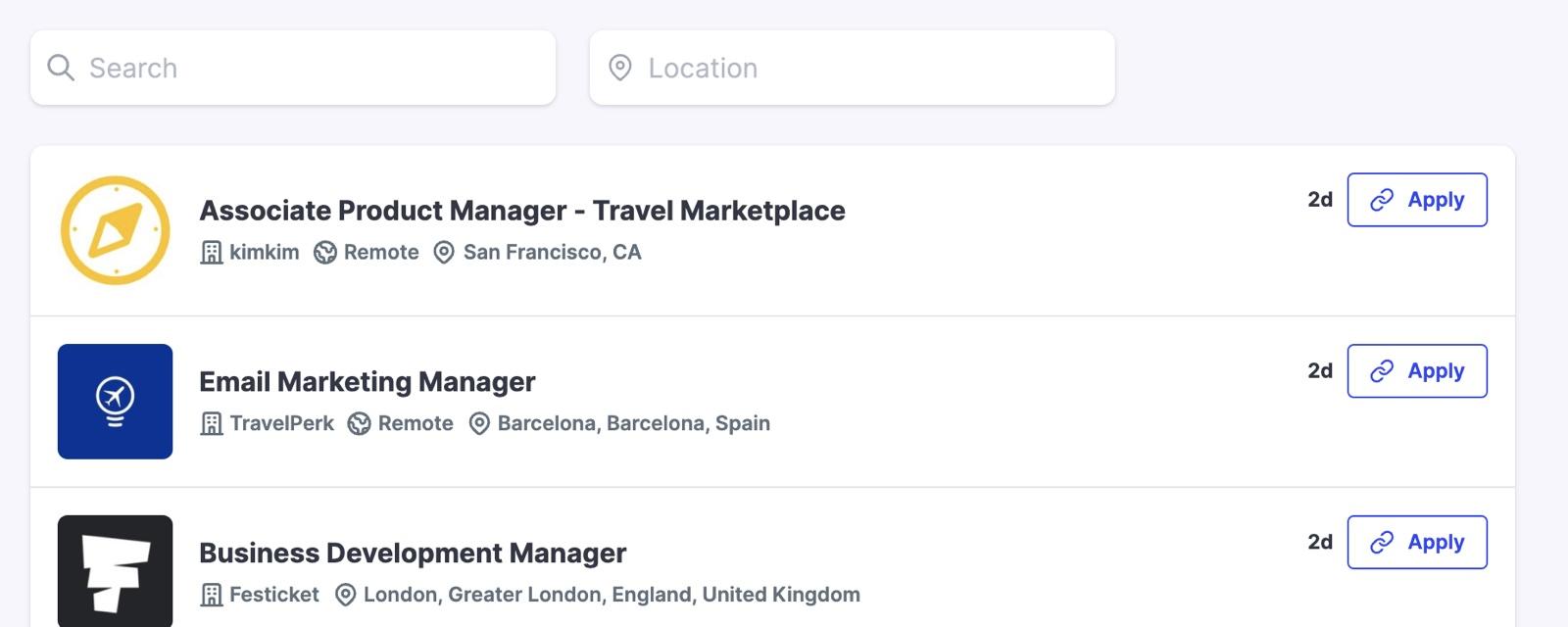 Picture of Travel Massive Jobs board