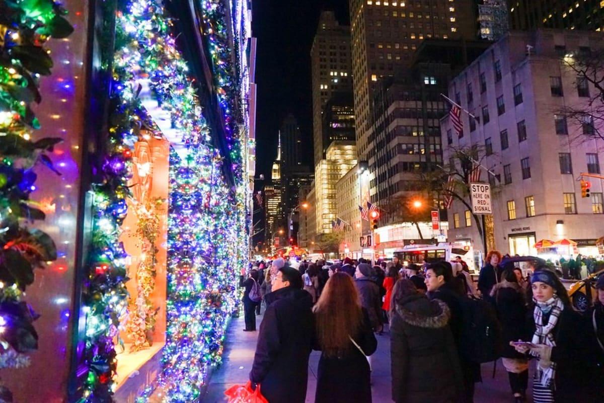 Christmas Lights and Holiday Window