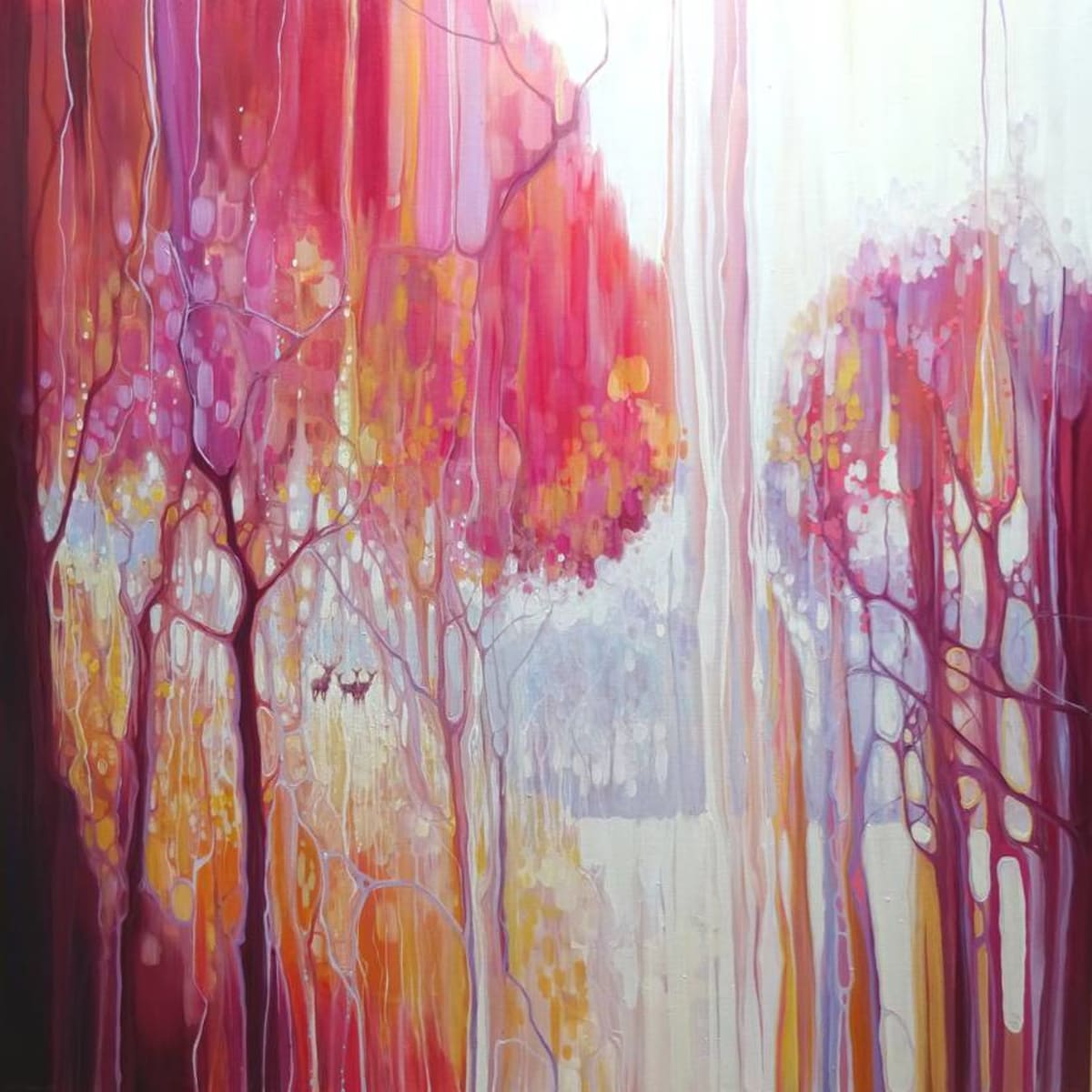 Waiting - an autumn forest landscape by Gill-Bustamante