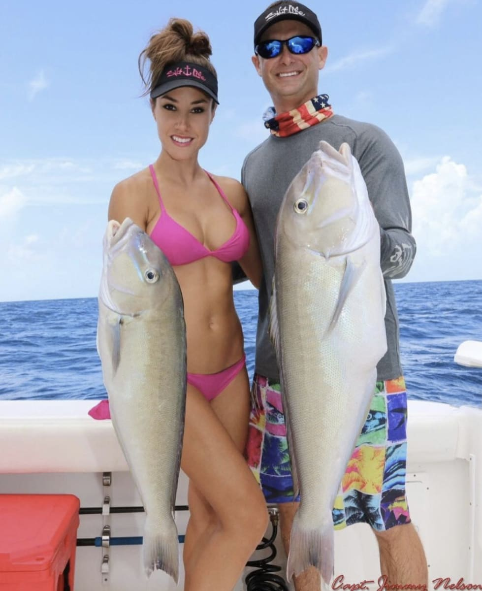 couple with fish