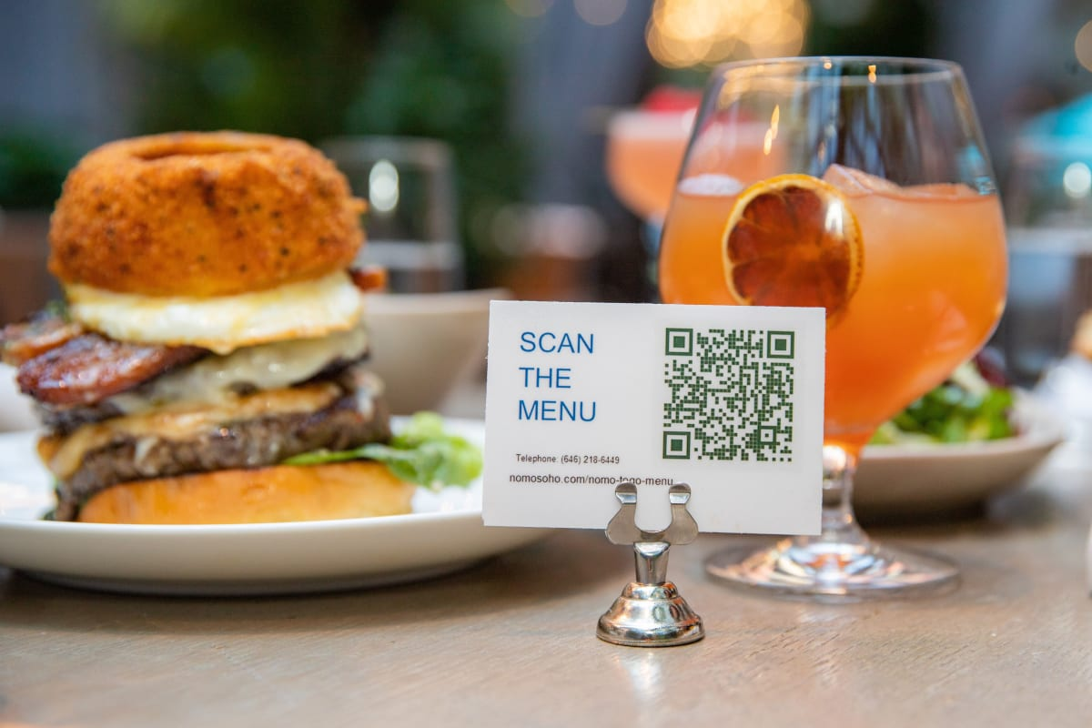 Food and drink with scan menu