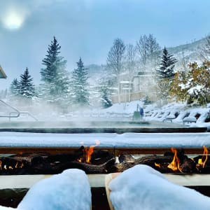 Highline Vail Snowy Heated Pool