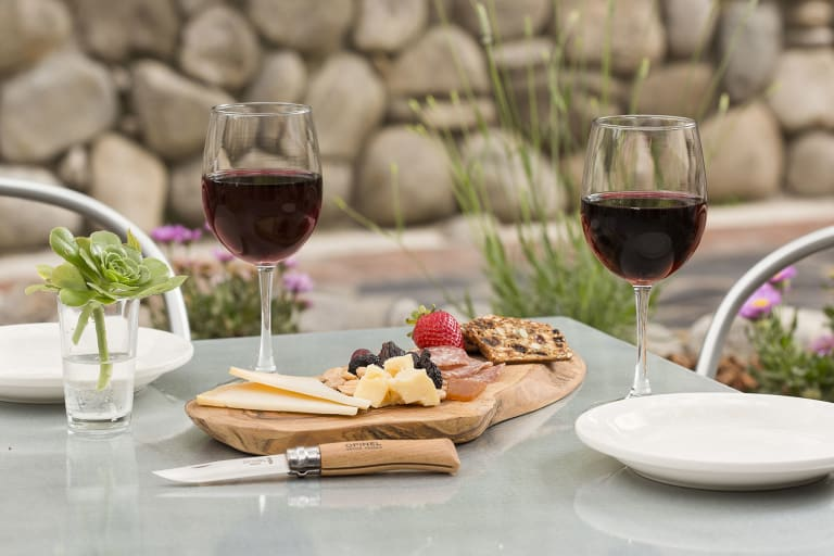 Hideaway Patio Wine _ Cheese