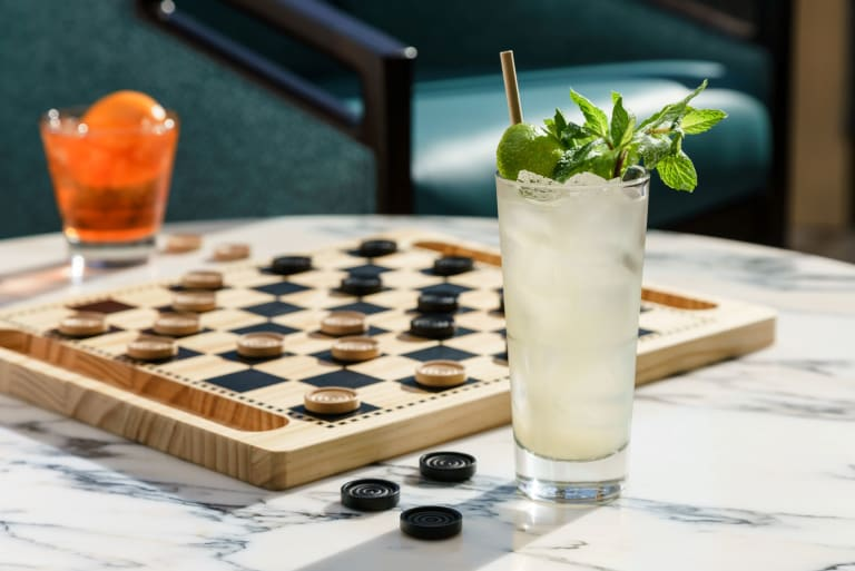 Cocktails and checkers