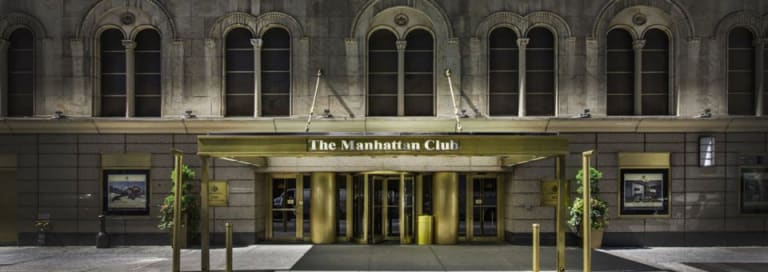Entrance of The Manhattan Club, New York.