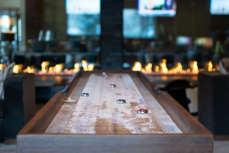 Highline Hotel Vail by Doubletree Mountain Chic Lodge Fireside Lobby Shuffleboard