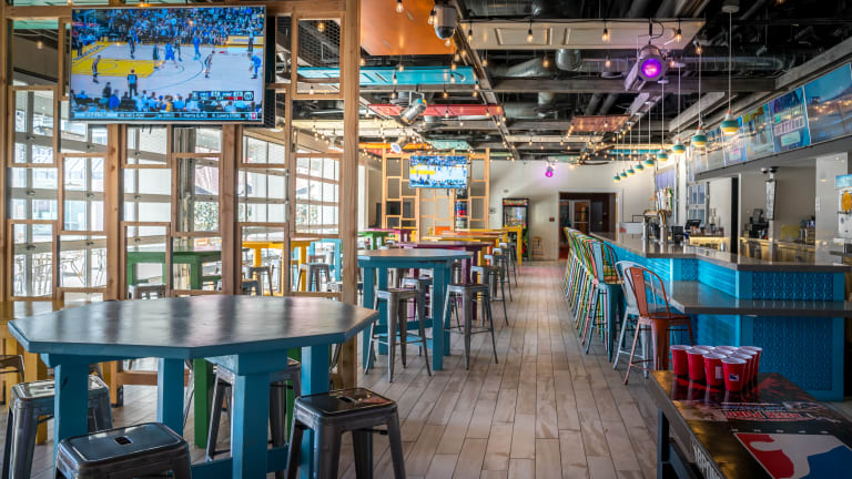 Watch the games from Splash Cantina