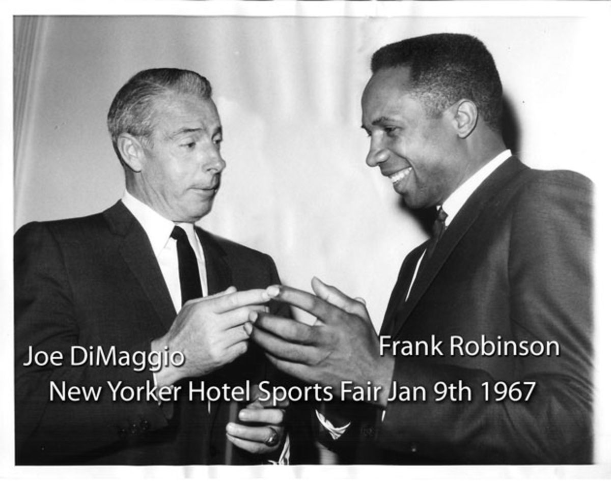 black-and-white-photo-of-joe-dimaggio-and-frank-robinson
