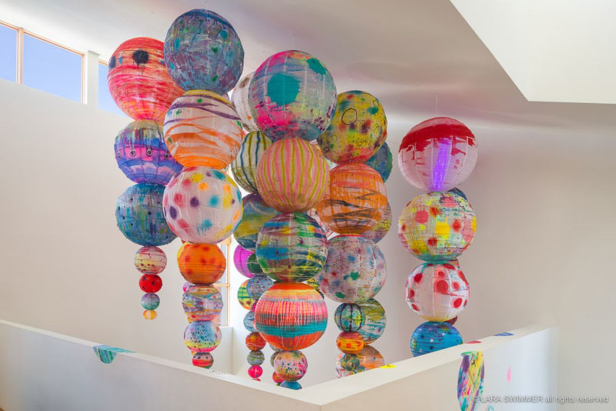 paper-lanterns-painted-by-artist-liz-tran-at-gallery