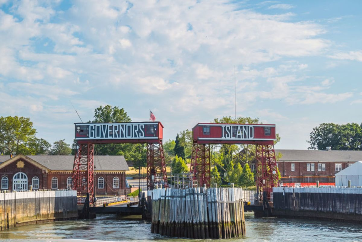 Piers and entrace to Governors Island