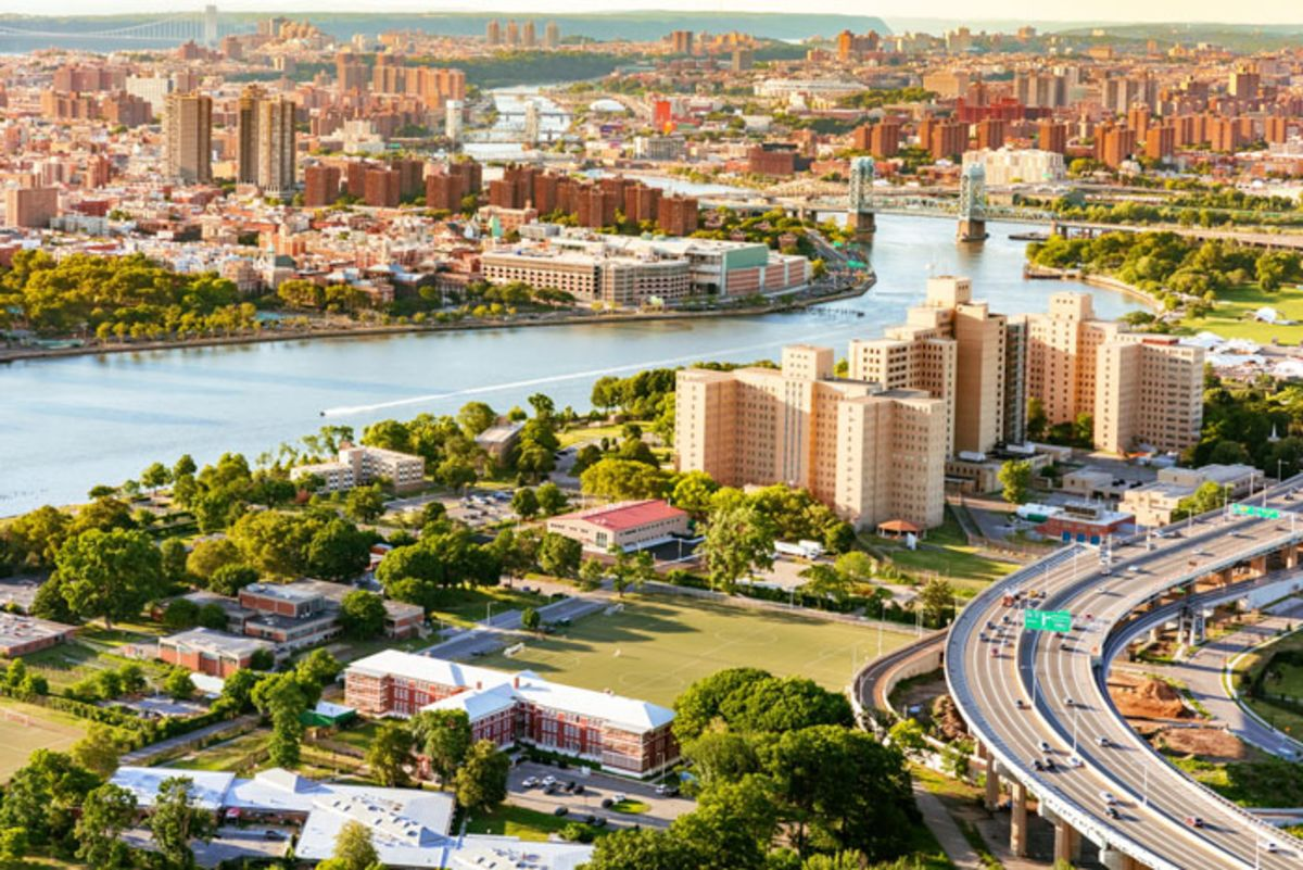 Aerial view of Randall's Island.