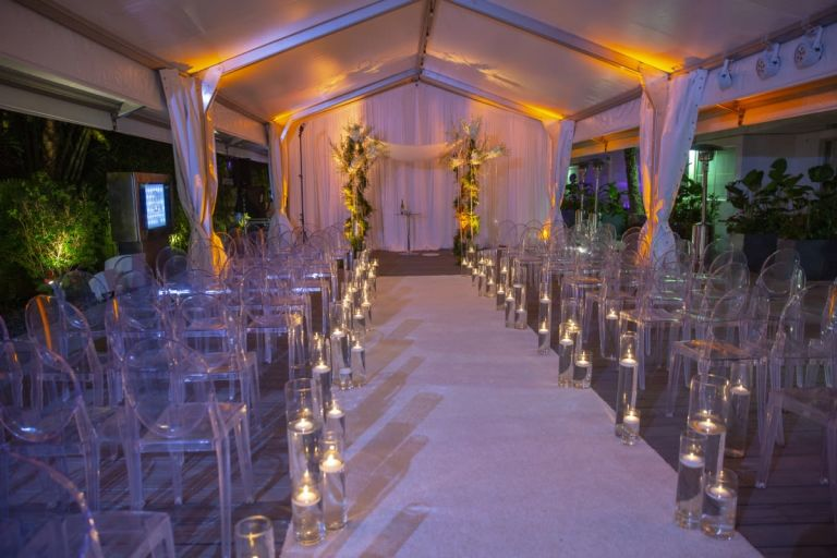Wedding Ceremony on Tented Deck2