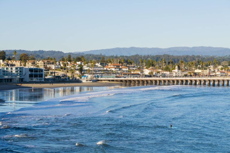 Santa Cruz bay and wharf