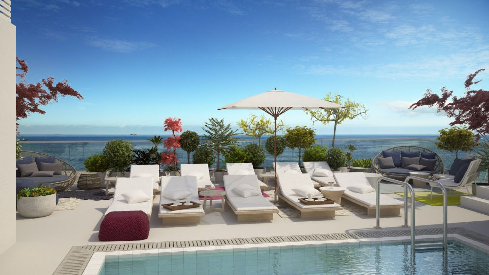 Renderings Rooftop pool