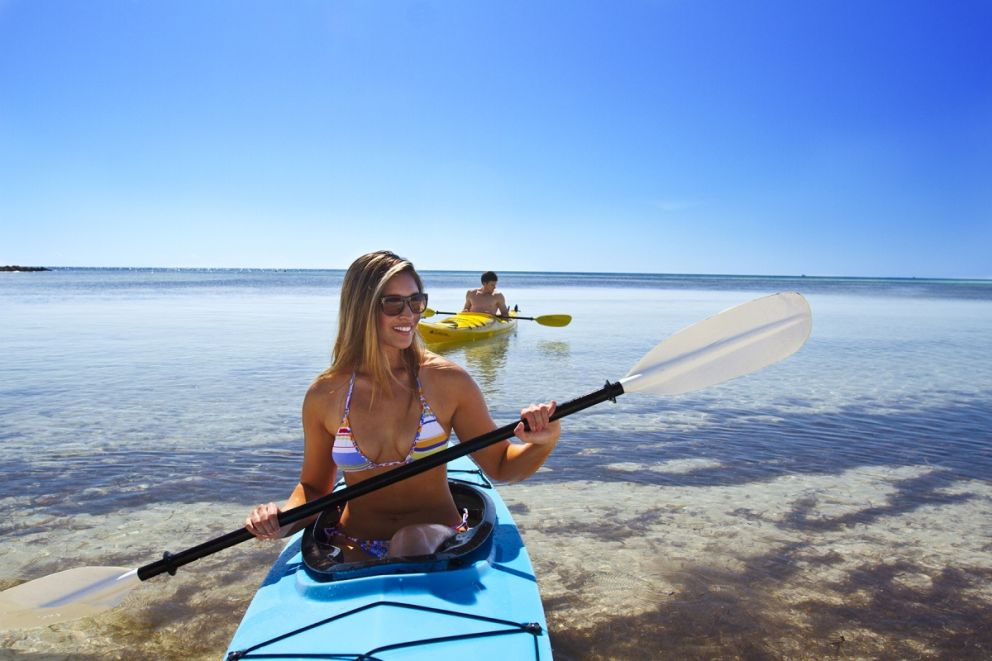 Complimentary kayak use at Oceans Edge Resort and Marina