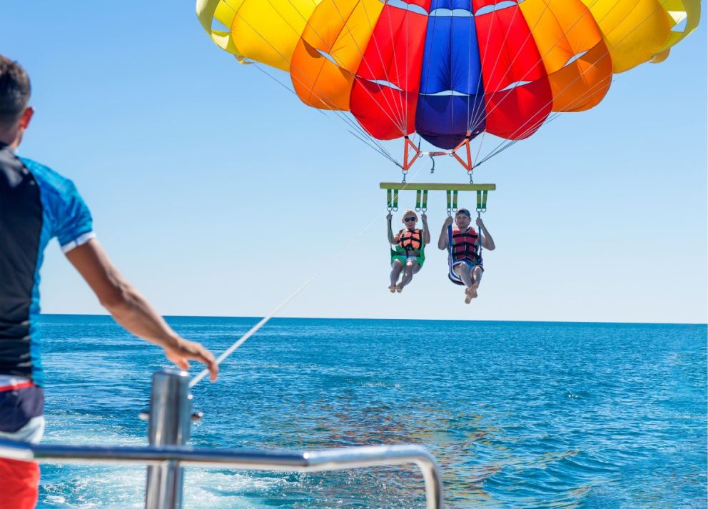 Book parasailing adventures with Oceans Edge Resort