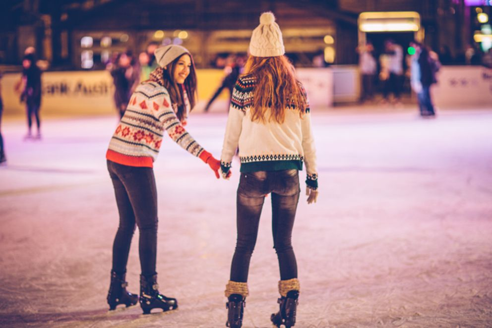 two-girls-ice-skating